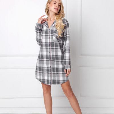 camison-abotonado-camisero-algodon-cuadros-gris-y-rosa-marly-marca-aruelle