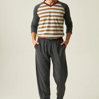 pijama-caballero-largo-algodon-de-rayas-camel-con-manga-larga-ranglan-jjb5600