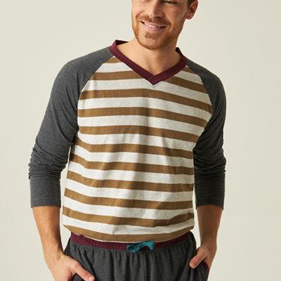 pijama-caballero-largo-algodon-de-rayas-camel-con-manga-larga-ranglan-jjb5600-camiseta