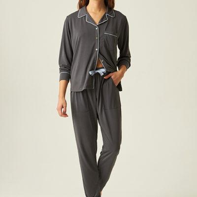 pijama-de-modal-gris-largo-con-camisa-abotonada-jjb1200