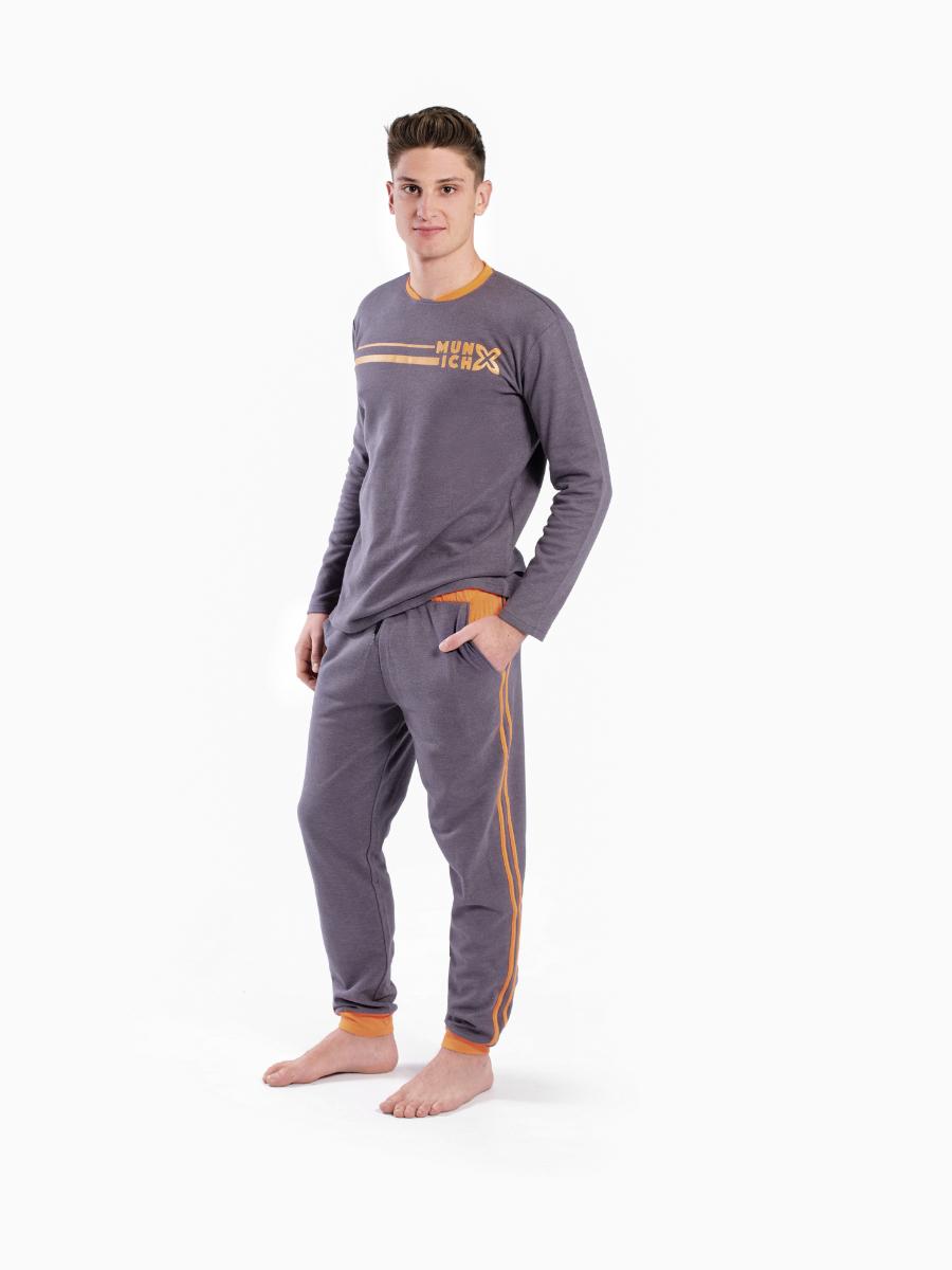 pijama-dos-piezas-largo-hombre-gris-con-detalles-naranjas-munich-glam-0350-front