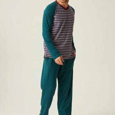 pijama-hombre-largo-rayas-azul-y-morado-cuello-pico-jjb5800