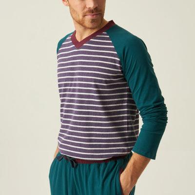 pijama-hombre-largo-rayas-azul-y-morado-cuello-pico-jjb5800-camiseta
