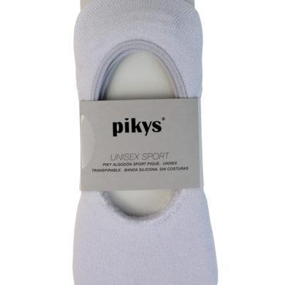 calcetines-deportivos-invisibles-algodon-pikys-blanco