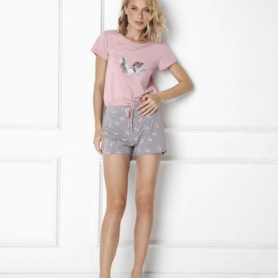 pijama-corto-de-algodon-con-flamencos-felicia