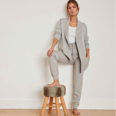 chaqueta-de-punto-abierta-de-mujer-gris-marca-gisela-front1-celesteshops-burgos